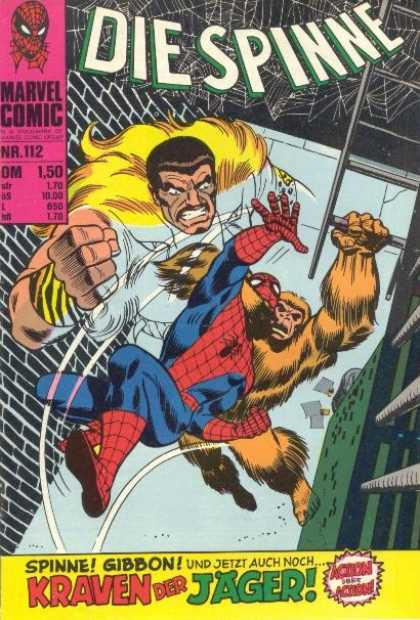 Die Spinne 135 - Gorilla Strangling Spiderman - Man With A Gold Hairy Cape - Man With A Big Fist - Man Spiderman And A Gorilla - Spiderman Falling