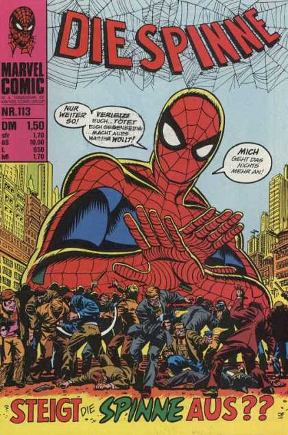 Die Spinne 136 - Giant - Spiderman - Crowds - Dead - Guns