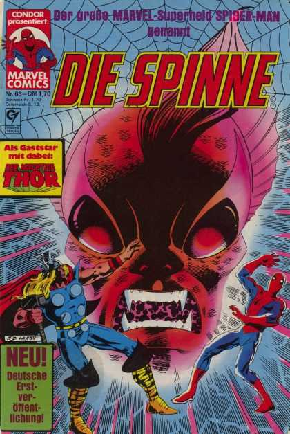 Die Spinne 223 - To Kill The Spider - Red Menace - Fish Man Eats Again - Thor The Magnificent - Run Super Heroes