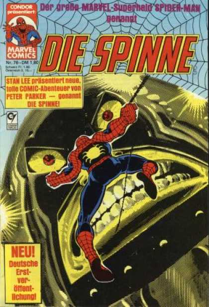 Die Spinne 236 - Web - Spiderman - Metal Angry Head - Stan Lee - Neu