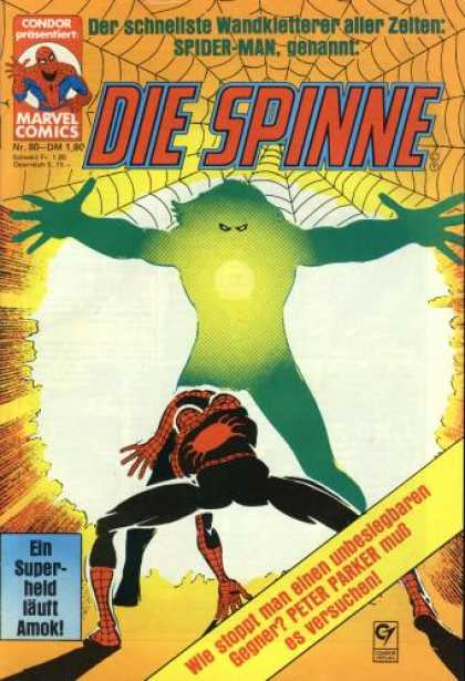 Die Spinne 240 - Spiderman - Green Monster - Evil - Glow - Creature