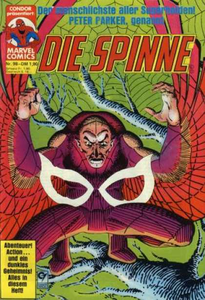 Die Spinne 258 - Large Web - Hunch Back - Clenched Fist - Bald Enemy - Tree Branches