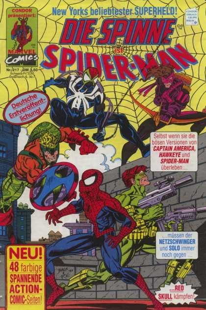 Die Spinne 377 - Spiderman - Captain America - Hawkeye - Black Costume - Red Skull