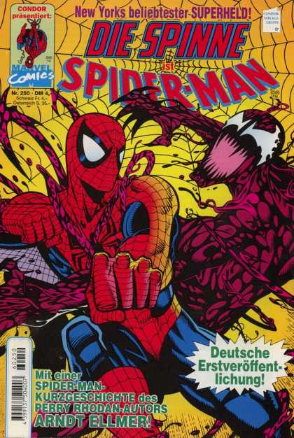 Die Spinne 410 - Spider Eyes - Creature - Evil Spiderman - Mouth Open - Fist Outreached