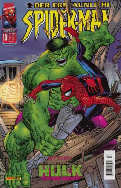 Die Spinne 487 - Marvel - Hulk - Wood Planks - Superhero - Destruction