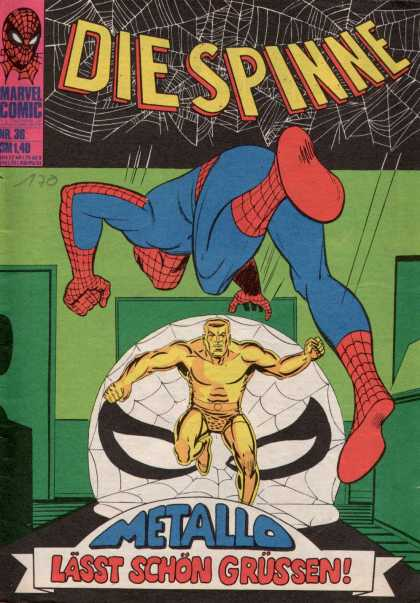 Die Spinne 59 - Spider-man - German-language Translation - Metallo - Green Walls - Spider Web