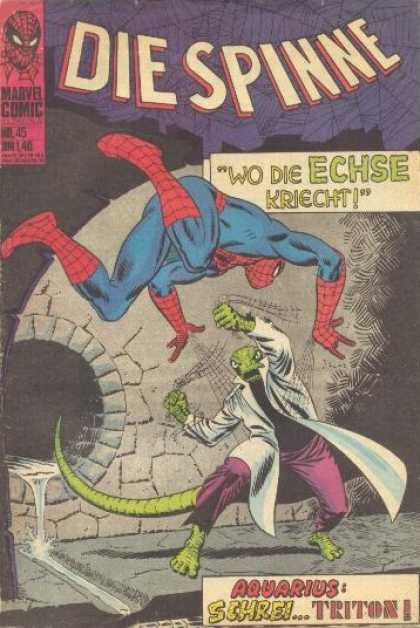 Die Spinne 68 - Marvel Comic - Spider-man - Superhero - Lizard - Aquarius