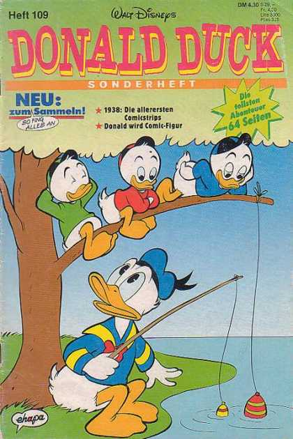 Die Tollsten Geschichten von Donald Duck 109 - Donald Duck - Fishing Rod - Threads - Branch - Grass