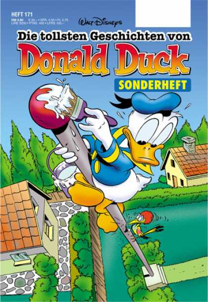 Die Tollsten Geschichten von Donald Duck 171 - Flag Pole - Paint Brush - Woodpecker - House - Walt Disney