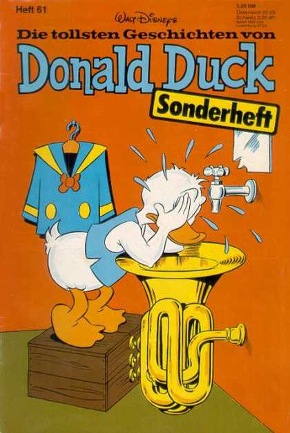 Die Tollsten Geschichten von Donald Duck 61 - Crying - Clothes - Bathroom - Sink - Orange