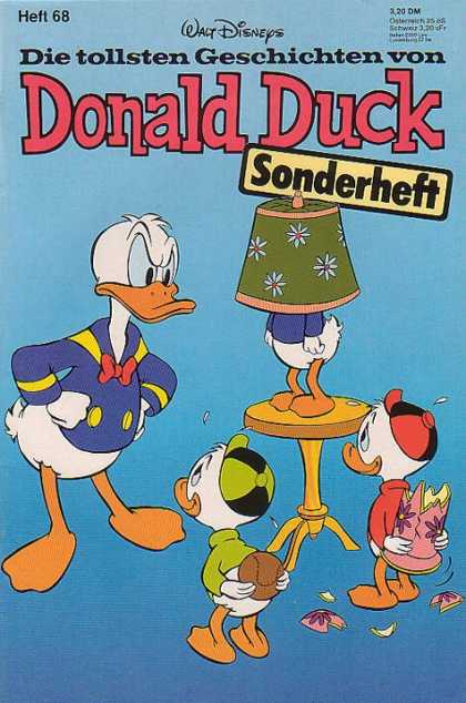 Die Tollsten Geschichten von Donald Duck 68 - German - Lamp Shade - Powder Blue - Broken Lamp - Angry