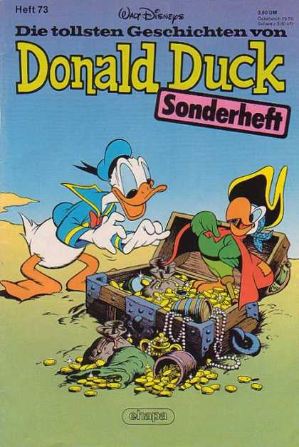 Die Tollsten Geschichten von Donald Duck 73 - Walt Disney - Parrot - Pirate Hat - Treasure Chest - Gold Coins