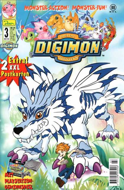 Digimon 3 - Monster-action - Monster-fun - Wolf - Digital Monsters - Claws