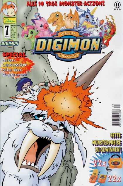 Digimon 7 - Digital Monsters - Bor - Strange Creatures - Fire - Fighting