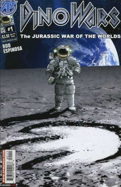 DinoWars 1 - Dinosaur - Astronaut - Earth - Space - Giant Footprint