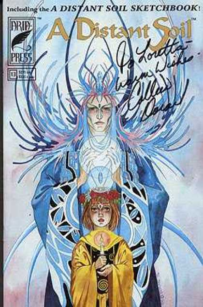 Distant Soil 13 - Signed - Colleen Doran - Sketchbook - Girl - Candle