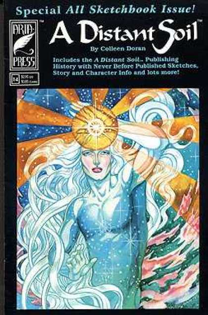 Distant Soil 14 - Arid Press - Colleen Doran - Sun Rays - All Sketchbook Issue - Flowing Hair
