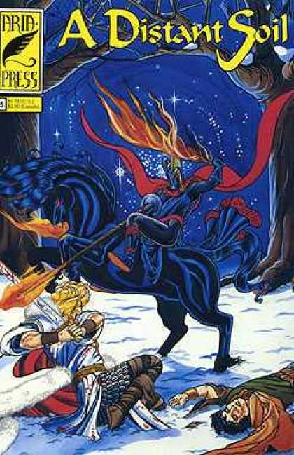 Distant Soil 5 - A Distant Soil - Blue Man - Blue Horse - Snow - Fire
