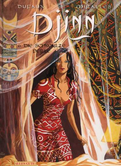 Djinn 6 - Woman - Red Dress - Curtains - Veil - Tent