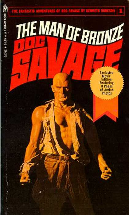 Doc Savage Books - The Man of Bronze Doc Savage