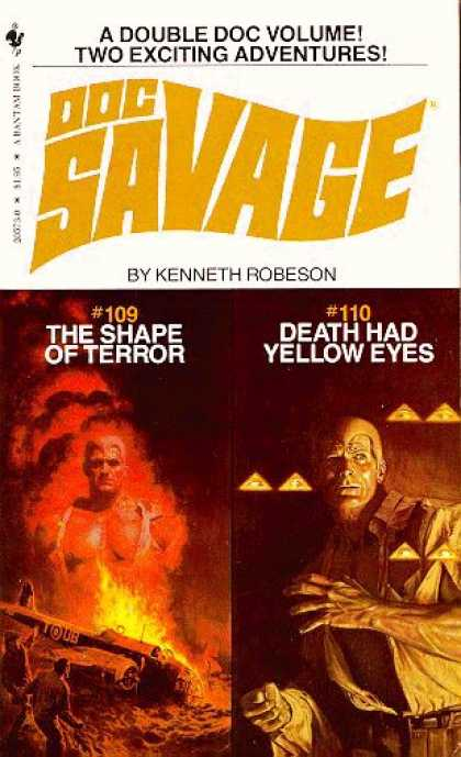 Doc Savage Books - The Shape of Terror and Death Had Yellow Eyes - Kenneth Robeson