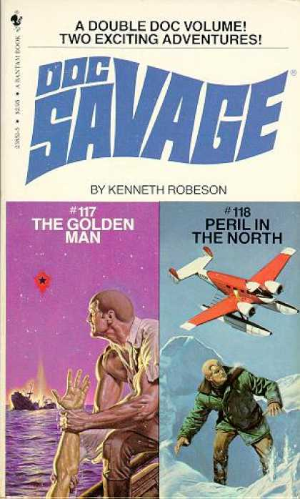 Doc Savage Books - The Golden Man & Peril In the North - Kenneth Robeson