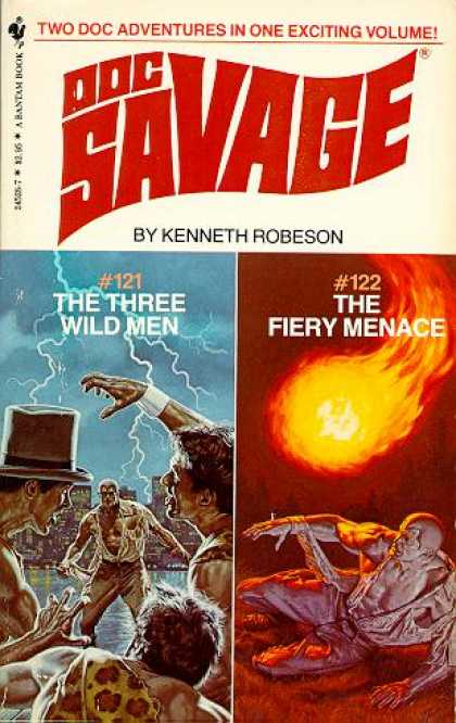 Doc Savage Books - The Three Wild Men and the Fiery Menace - Kenneth Robeson