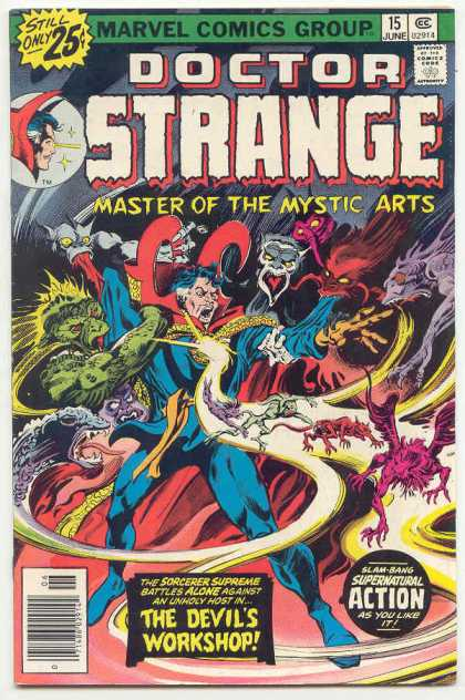 Doctor Strange 15 - Marvel - Attacking - Workshop - Supernatural - Sorcerer