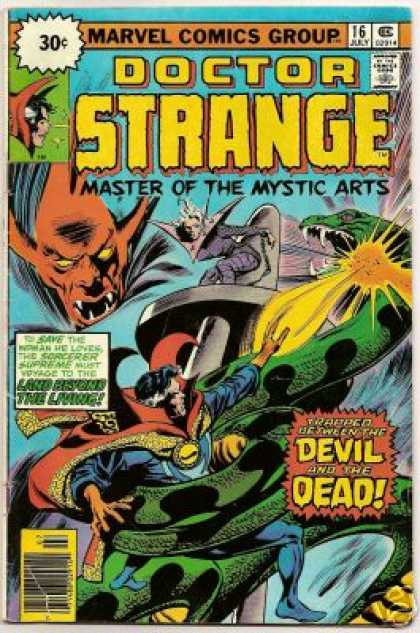 Doctor Strange 16 - Devil - Master Of The Mystic Arts - Trapped Between The Devil And The Dead - Land Beyond The Living - Giant Snake - Gene Colan