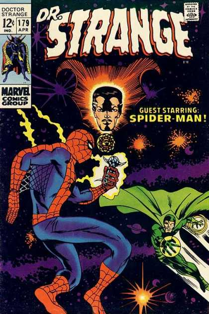 Doctor Strange 179 - Spider-man - Crystal - Spider Man - Outer Space - 12u00a2 - Barry Windsor-Smith