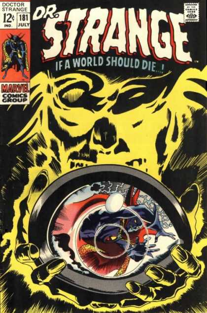 Doctor Strange 181 - Eyes - If A World Should Die - Orb - Magic - Hands - Gene Colan