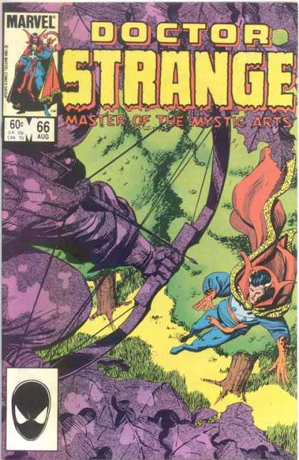 Doctor Strange 66 - Master Of The Mystic Arts - Bow And Arrow - Red And Gold Cape - Trees - Hillside - Paul Smith