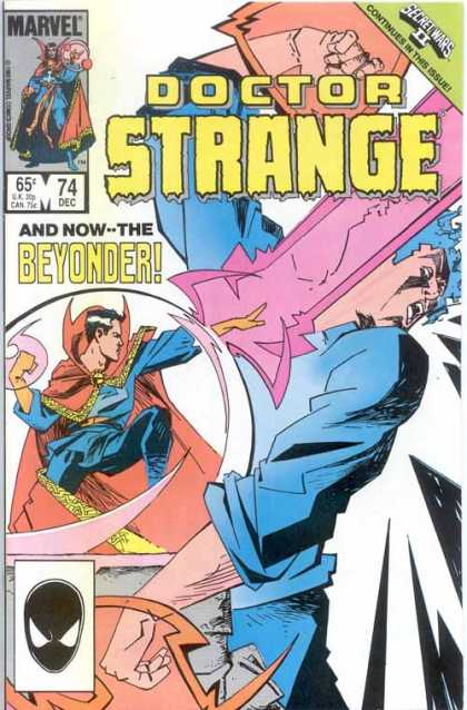 Doctor Strange 74 - Beyonder - Strange - Dec - Secret Wars Ii - Red Cape - Mark Badger