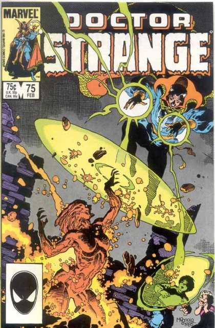 Doctor Strange 75 - Marvel - Kids - Flames - Jumping - Rocks - Mike Mignola