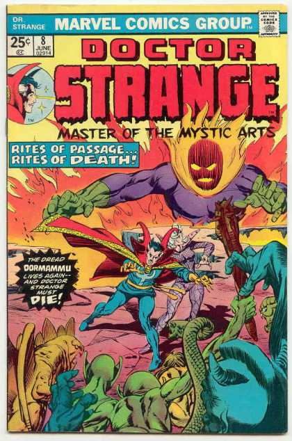 Doctor Strange 8 - Flames - Snake - Creatures - Aliens - Blue Guy