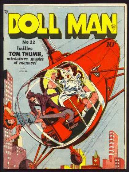 Doll Man 22 - One Little Girl - One Boy - One Man - Tall Building - Helicopte