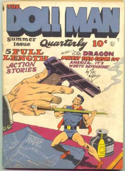 Doll Man 3 - Summer Issue - Quarterly - Gun - Dragon - 5 Full Length Action Stories