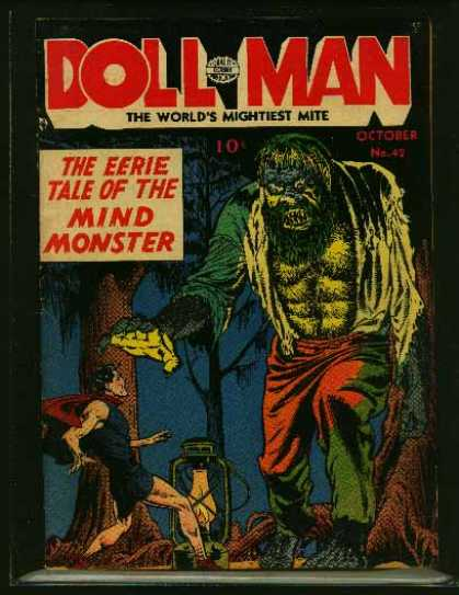 Doll Man 42 - Lamp - The Worlds Mightiest Mite - Mind Monster - Tree - Leaves