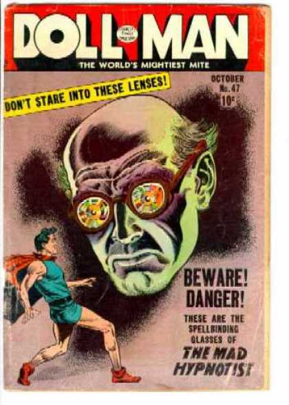 Doll Man 47 - Lenses - Bald - Red Cape - Mad Hypnotist - Spellbinding Glasses