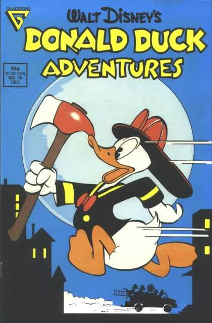 Donald Duck Adventures 10 - Axe - Moon - Duck - Fireman - Houses
