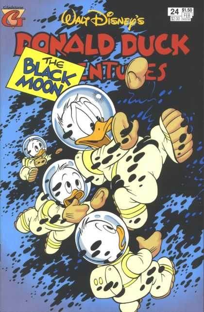 Donald Duck Adventures 24 - Donald The Astronaut - Nephews - Space Suits - Helmets - Black Spots