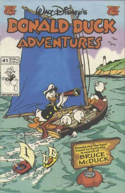 Donald Duck Adventures 41 - Walt Disneys - Boat - Water - Spyglass - Bruce Mcduck