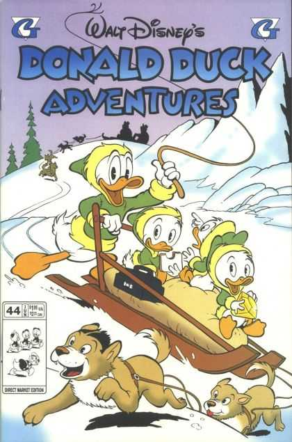 Donald Duck Adventures 44 - Dogsled - Black Bag - Whip - Sandwich - Nephews