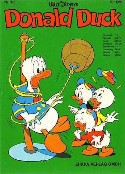 Donald Duck (German) 10 - Walt Disney - Tetherball - Huey Duey And Louie - Tied Up - Laughing