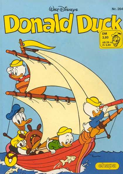 Donald Duck (German) 109 - Walt Disney - Huey - Duey - Louie - Sailing