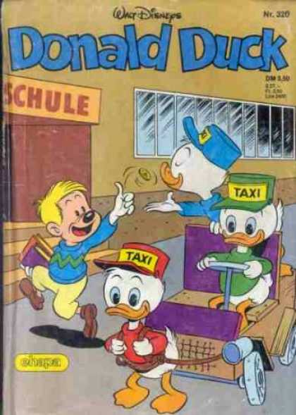 Donald Duck (German) 125 - Huey Dewey And Louie - Taxi - Schule - School - 320
