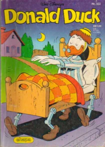 Donald Duck (German) 126 - Walt Disney - Mechanical Bed - Sleep Walking - Sleep Walking Bed - Pajamas