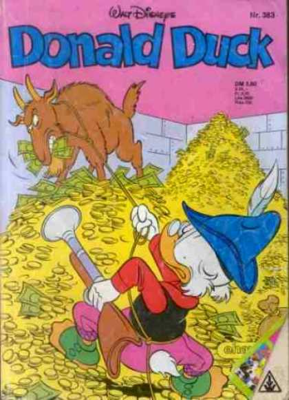 Donald Duck (German) 153 - Billie Goat - Money - Coins - Stacks - Gun