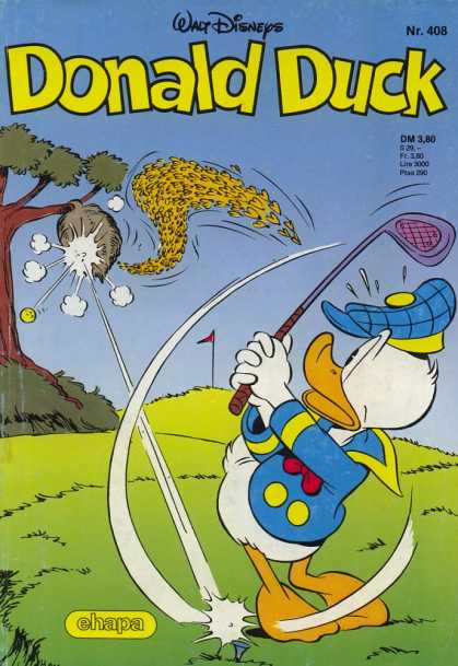 Donald Duck (German) 168 - Golf - Bees - Tee - Beehive - Golf Course