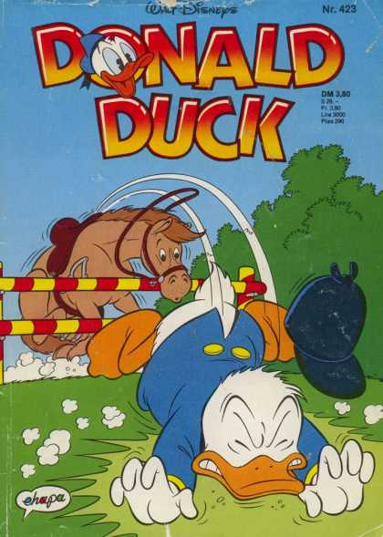 Donald Duck (German) 181 - Walt Disney - No 423 - Horse - Fall - Grass